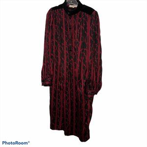 yves saint laurent YSL COUTURE SILK dress L